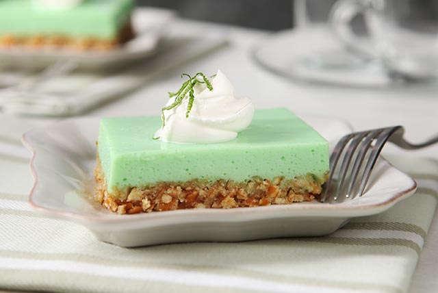 Cool Lime-Pretzel Squares Image 1