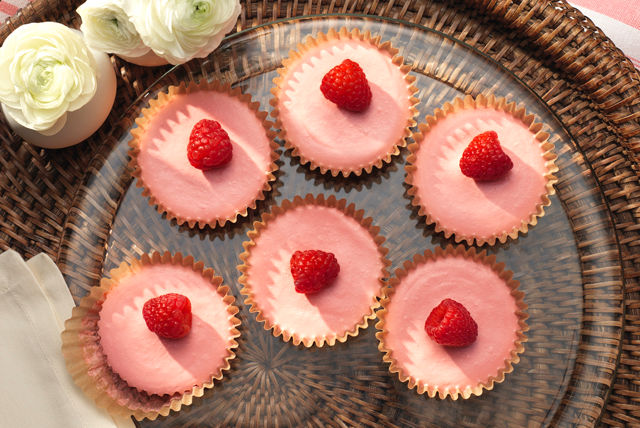 Frozen Mini Raspberry-Lemonade Pies Image 1
