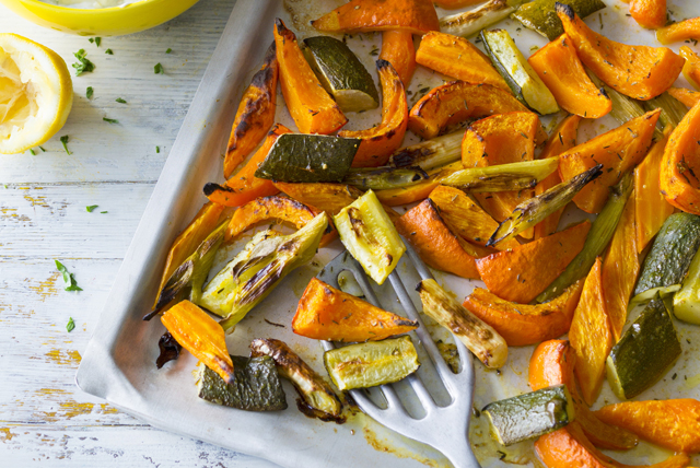 Oven-Roasted Pumpkin and Zucchini Image 1