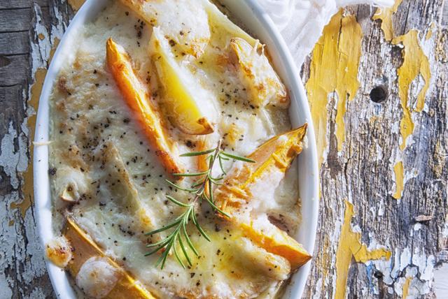 Gratin crémeux de pommes de terre et de patates douces Image 1