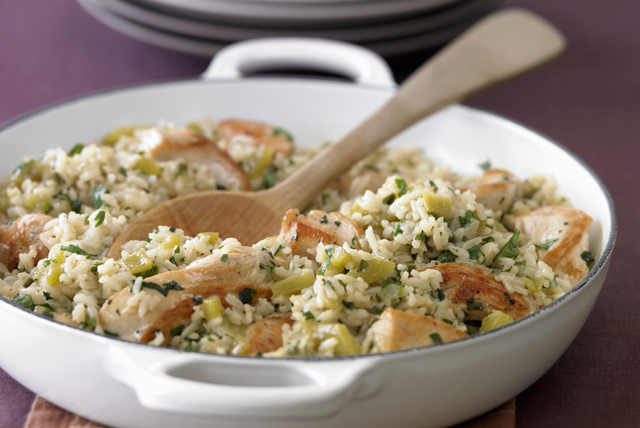 Chicken, Leek and Rice Skillet Image 1