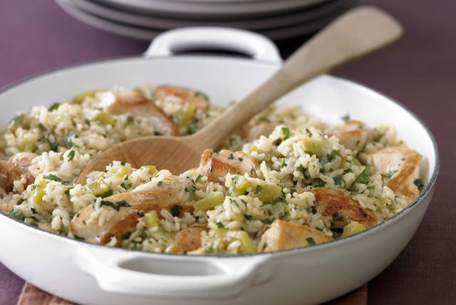 Poêlée de poulet au poireau et au riz Image 1