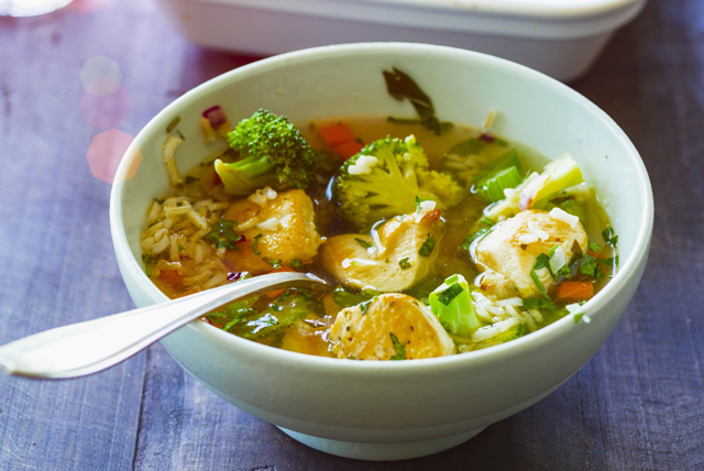 Quick Chicken with Broccoli and Rice Image 1
