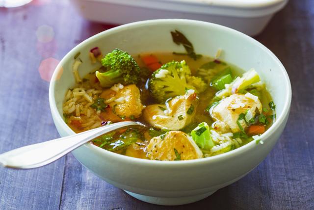 Poulet vite fait au brocoli et au riz