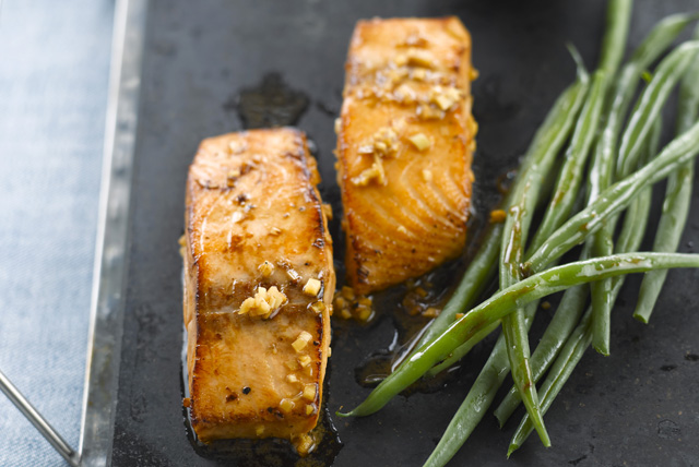 Sesame, Ginger and Soy Salmon