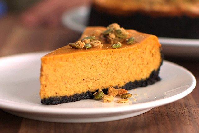 Chocolate-Pumpkin Crumble Cheesecake Image 1