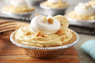 Mini Peanut Butter-Banana Cream Pies