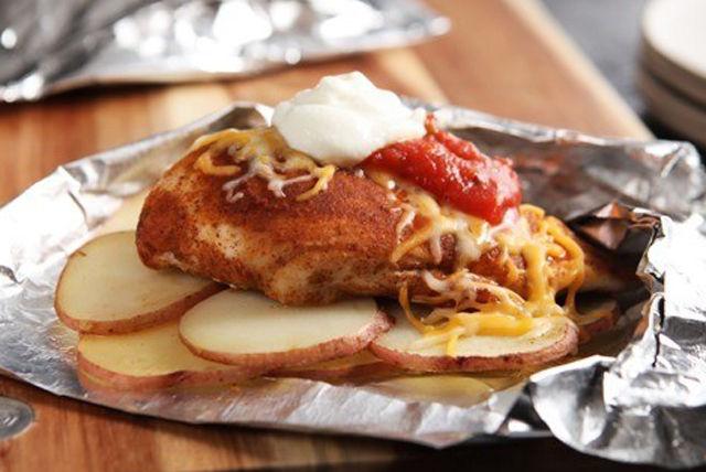 Tacos au poulet réinventés en papillote Image 1
