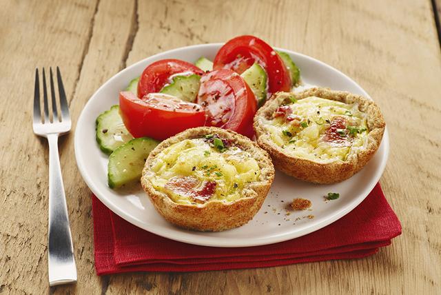 Paniers de pain aux œufs et au bacon Image 1