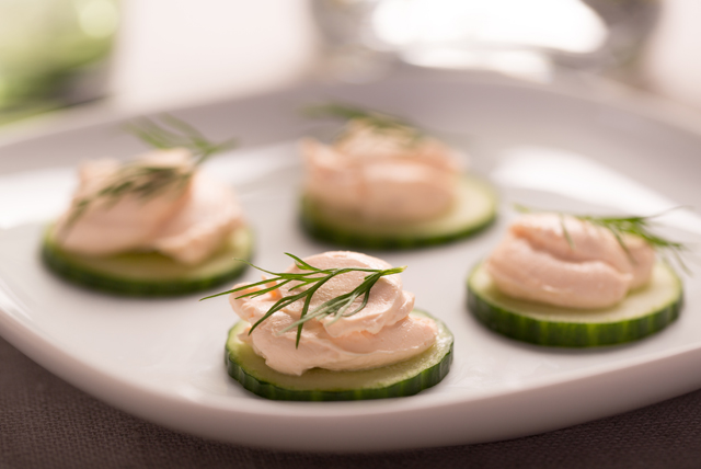 Cucumber-Salmon Cream Cheese Appetizers Image 1