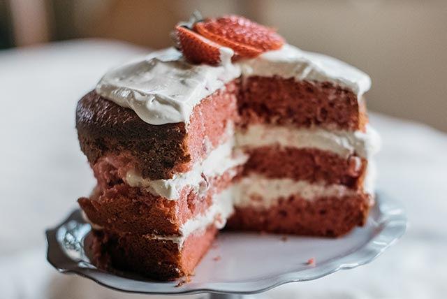 Gâteau étagé aux fraises et à l'orange Image 1