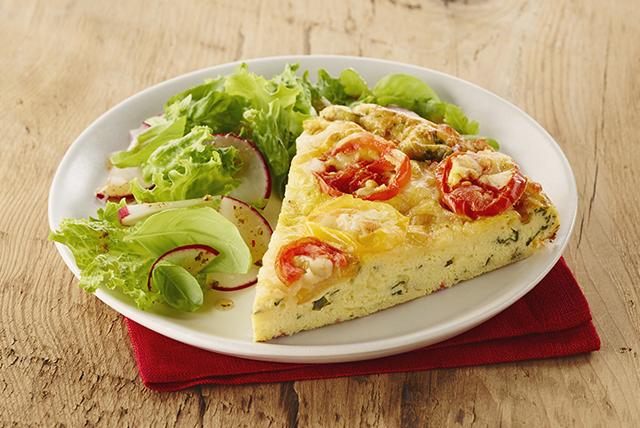 Frittata aux tomates, au basilic et au fromage Image 1