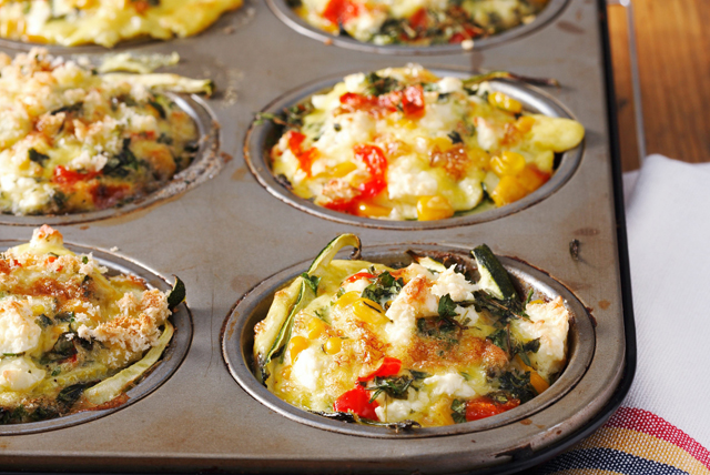 Make-Ahead Muffin Pan-Cheesy Frittatas Image 1