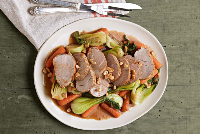 Asian Pork Tenderloin with Baby Bok Choy