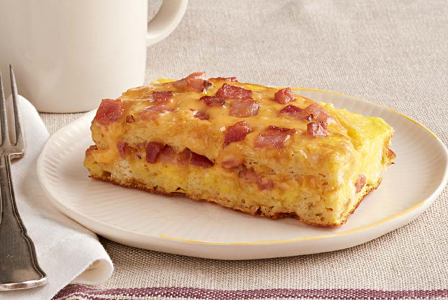 Easy Waffle, Ham and Cheese Bake Image 1