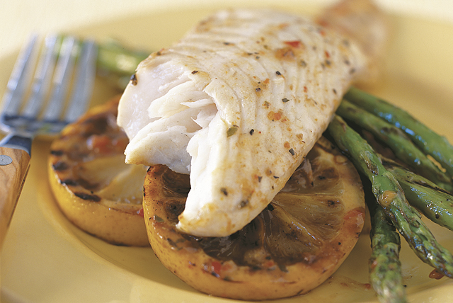 Grilled Lemon-Tilapia with Asparagus