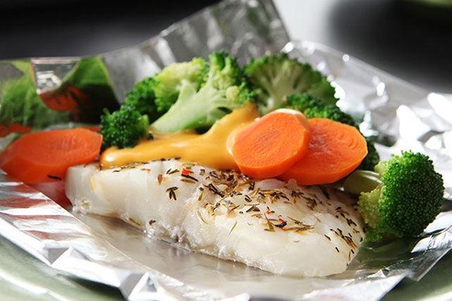 Papillotes de poisson et de légumes au fromage Image 1