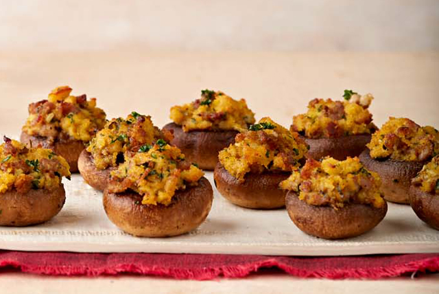 Sausage and Cornbread Stuffed Mushrooms Image 1