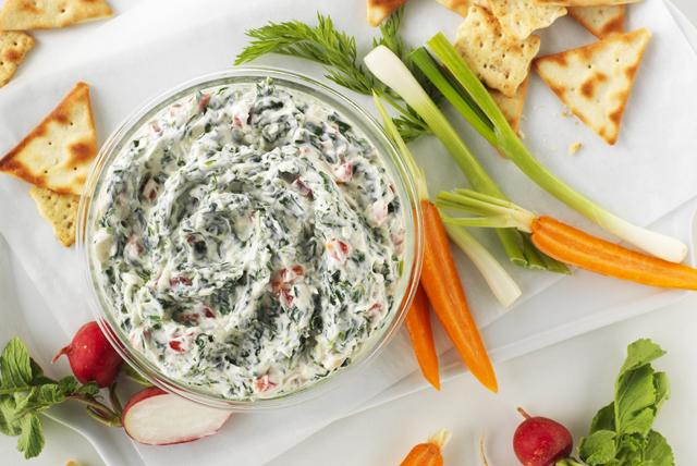 Trempette au fromage PHILADELPHIA et aux épinards