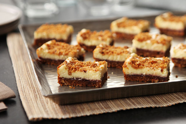 Raspberry-Pecan Cheesecake Bars Image 1