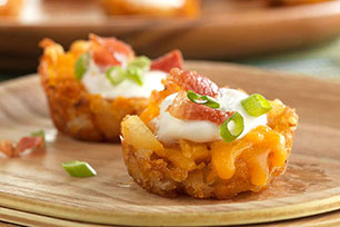 Mini Loaded TATER TOTS Appetizers