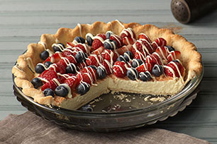 Rustic Berry-Cream Tart