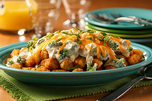 Broccoli and 3-Cheese Totchos