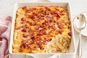 Loaded Shoestring Potato Bake