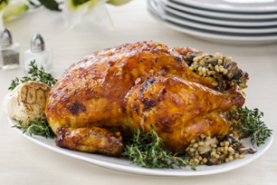 Roasted Chicken with Mushroom & Barley Stuffing
