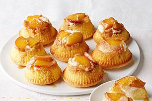 Peaches & Cream Mini Upside-Down Cakes