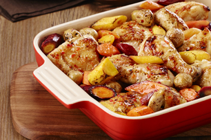 One-Pan Baked Chicken with Carrots & Potatoes