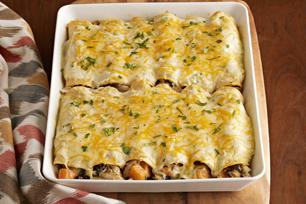 Creamy Verde-Chicken Enchiladas