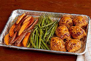 Bbq Chicken And Sweet Potato Sheet Pan Dish