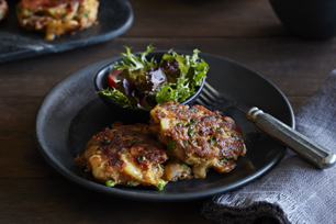 Crispy Southwest Turkey & Potato Cakes