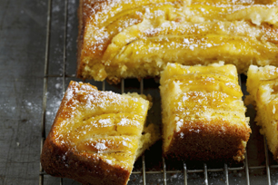 Warm Upside-Down Banana Cake