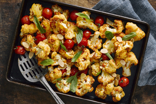 Oven-Roasted Cauliflower with Cherry Tomatoes