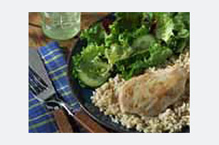 20-Minute Garlic Rosemary Chicken & Brown Rice Dinner Image 1