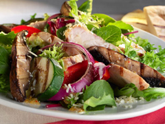 Grilled Chicken and Portobello Mushroom Salad