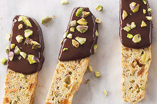 Chocolate-Dipped Pistachio Biscotti