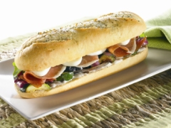 Grilled Vegetable and Prosciutto Caesar Sandwich