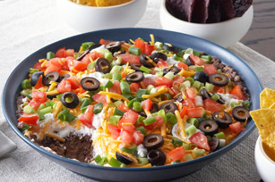 Layered Black Bean Mexican Dip