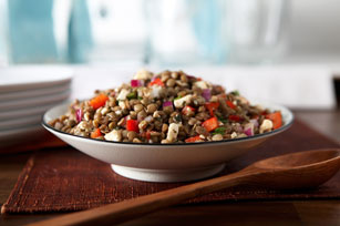 Lebanese Lentils and Red Peppers