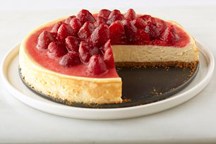 Classic Strawberry-Topped Cheesecake Image 1