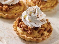 Pumpkin Mousse Tarts with Praline Crumble