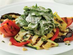 Arugula Salad with Grilled Vegetables