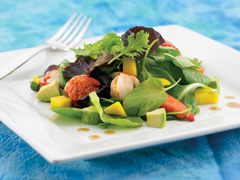 Lobster, Watercress and Mango Salad with Oriental Sesame Dressing