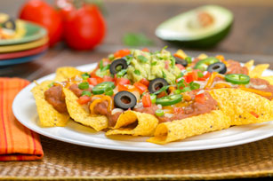 Cheesy Bean Nachos Image 1