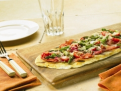 Asparagus and Asiago Flatbread