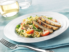 Italian-Style Orzo and Grilled Chicken Salad