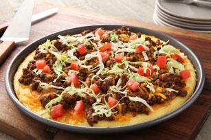 Taco Cornbread Pizza Image 1